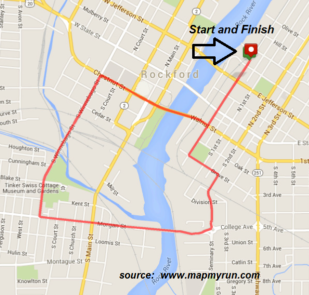 MeltFest 5k Route